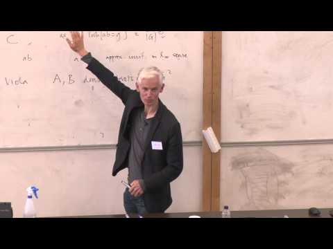 Professor Timothy Gowers speaking at the LMS/EMS Anniversary Mathematical Weekend 2015