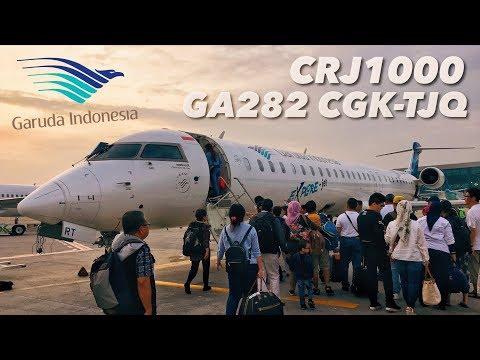 VLOG Bombardier CRJ1000 Garuda Indonesia Sebelum Digantikan CS300 | GA282 Jakarta ke Belitung