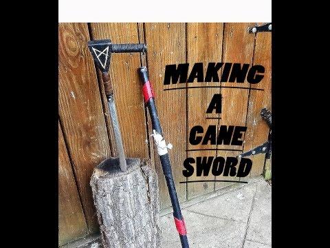 MAKING A CANE SWORD (1/2)