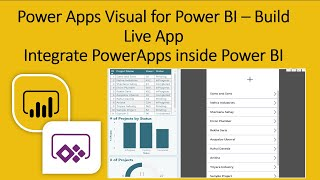Power Apps Visual for Power BI | Build Live Application with Power Apps Visual inside Power BI