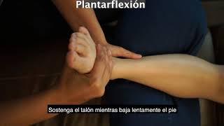 Movimento passive del tobillo con una cuidadora (Espanol)