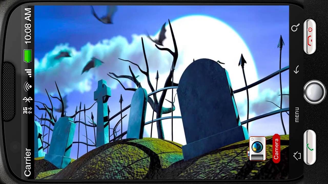 Spooky Halloween Graveyard Deluxe HD Edition 3D Live Wallpaper For Android