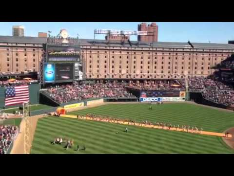 Baltimore Orioles 2012 Opening Day National Anthem