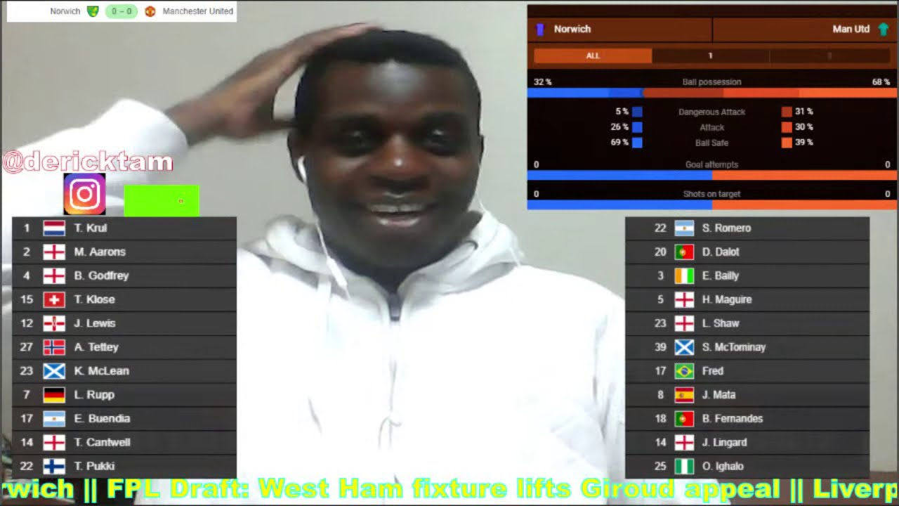 Norwich vs Manchester United Live Football Match Today Online FA Cup Watch Along Stream Reaction Now