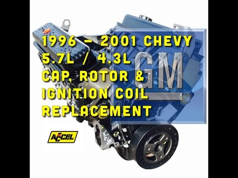 msd 6a wiring diagram ford 88 f 150 chevy 5 7l 4 3l cap rotor coil replacement accel supercoil youtube premium