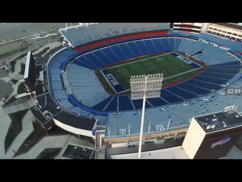 Drone footage of Ralph Wilson Stadium