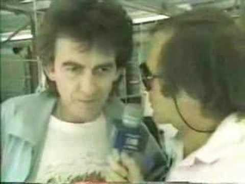 George Harrison at the 1986 Australian Grand Prix