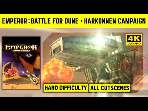 Emperor: Battle For Dune 4K - Harkonnen Campaign - Hard Difficulty - No Commantary Longplay
