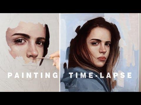 PORTRAIT PAINTING TIME-LAPSE || Oil Painting