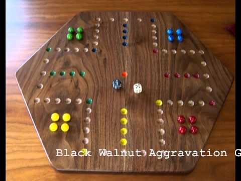 Wooden Aggravation Wahoo Game Showcase YouTube Beauteous Homemade Wooden Board Games