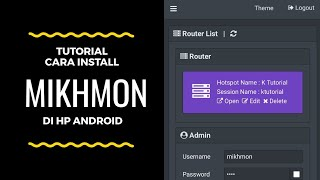 Tutorial Install Mikhmon di HP Android