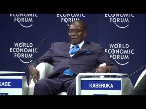 Mugabe answers question on whether Zimbabwe is in a fragile state