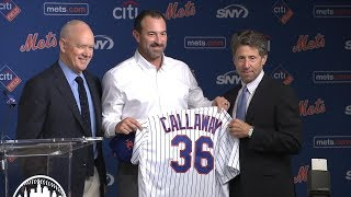 Mets GM Sandy Alderson introduces new manager Mickey Callaway 2017 Video