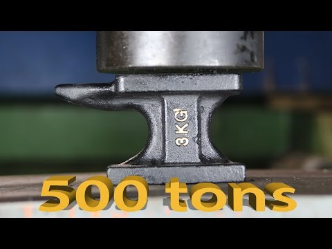 Experiment Anvil VS 500 TONS MRGA HYDRAULIC PRESS | The Crusher