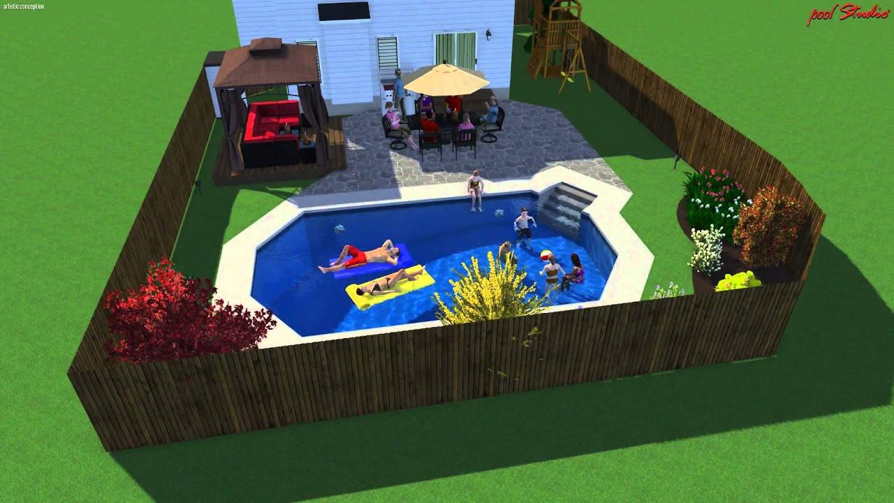 Grecian 14x28 Inground Pool Youtube