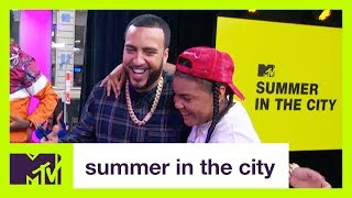 French Montana & Young M.A. Have A Basketball Shootout  | Summer in the City | MTV