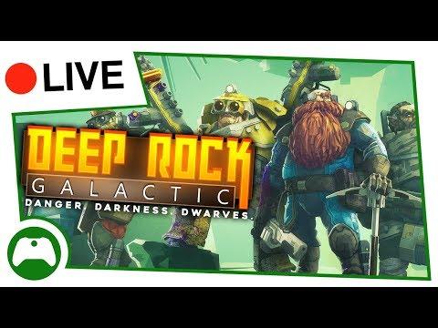 Let's Play Deep Rock Galactic Co-op - Space Dwarves Go Mining!