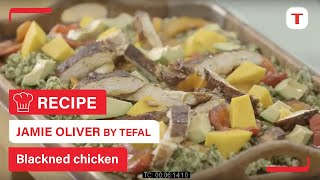 Jamie Oliver Professional Series Tefal Hard Anodised Recipe Blackned Chicken