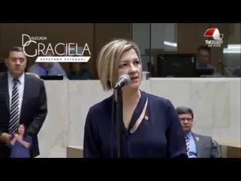 Delegada Graciela defende a carreira dos delegados e demais policiais civis no Plenário da Alesp.
