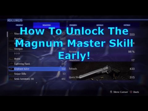 How To Unlock The Magnum Master Skill Early Resident Evil 6 RE6 Walkthrough Strategy Tips PS3 720p