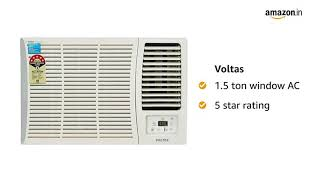 Voltas 1 Ton 5 Star Window AC Copper 125 DY 125 DZA
