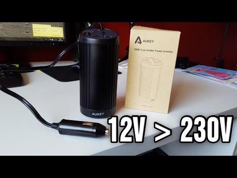 Test Convertisseur 12V - 230V pour Voiture d'Aukey