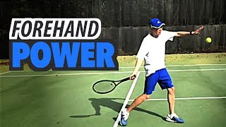 Forehand POWER Transformation -  tennis lesson (Part 2 of 3)