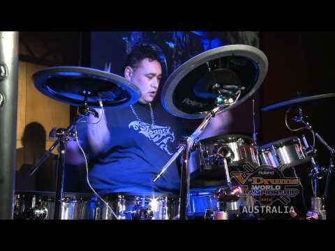 Australasian V-Drums Contest Final 2011 Jason Otene