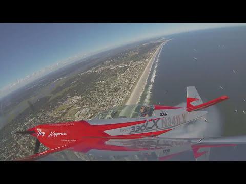 Patty Wagstaff Wing Camera CLIP - Jacksonville Beach 2015