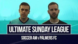 Soccer AM v Palmers FC | Horrific broken nose tackle!