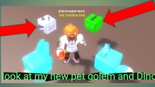 Roblox cookie simulator part 7: look at my new golem and Dino pets