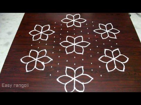 flower kolam designs for pongal with 13x7 interlaced dots || sankranti muggulu || easy rangoli