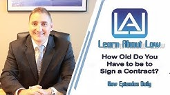 How Old Do You Have To Be to Sign a Contract? | Illinois Contract Law Explained |  Learn About Law