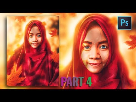 [Photoshop Tutorial] HOW TO CREATE VECTOR/VEXEL HIJAB IN PHOTOSHOP [PART 4- FACE] thumbnail