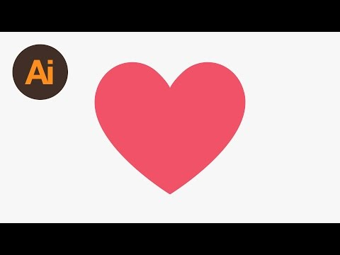 Learn How to Draw the Facebook Heart Emoji in Adobe Illustrator | Dansky