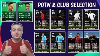 POTW VE CLUB SELECTION OYUNCULAR BELLİ OLDU - eFootball PES 2021 MOBİLE
