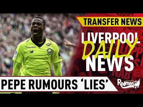 Liverpool Shut Down Pepe Rumours! | #LFC Daily Transfer News LIVE
