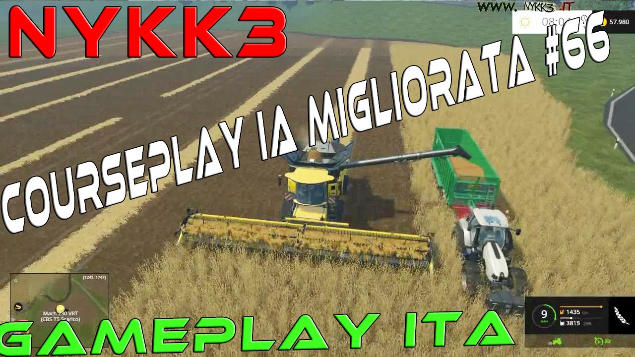 Farming Simulator 15 - Gameplay Ita - Mod CoursePlay Operai Intelligenti #66