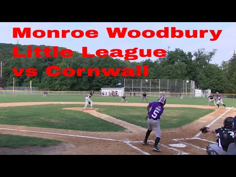 District 19 Little League Major's Division, Monroe Woodbury  vs Cornwall Championship Game 2017