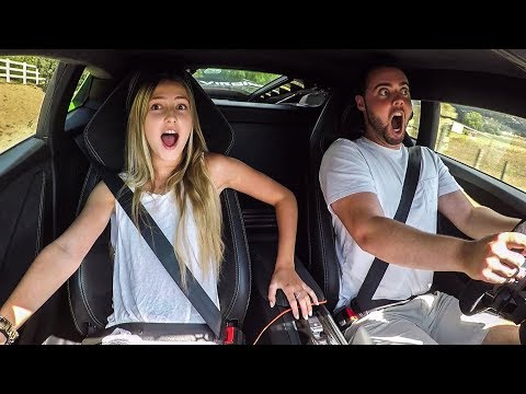 GIRLFRIEND REACTS TO 800HP LAMBORGHINI LAUNCH