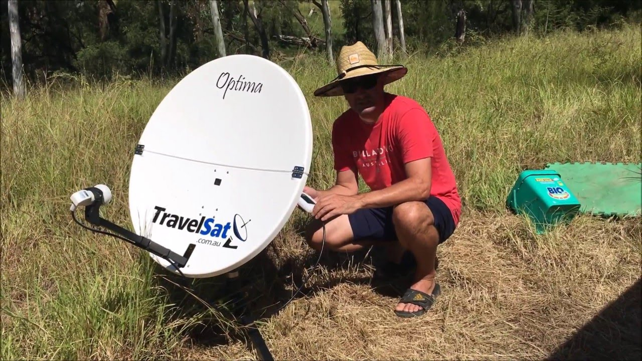 How to Align a Portable Satellite Dish - Optima-T2 Demonstration