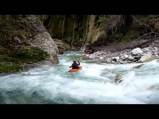 Agrafiotis Kayaking at Trypa Gorge Entrance Christina HD.avi
