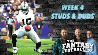 Fantasy Football 2016 - Week 4 Studs, Duds & Rising Stars - Ep. #277