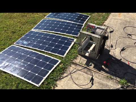 Electric motor solar panel test p1