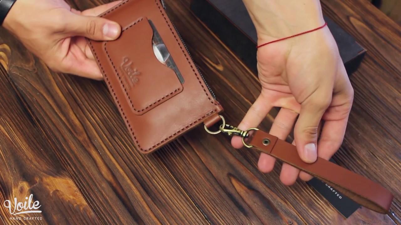 d0e61d96aabd Кошелек-чехол для телефона из кожи ручной работы VOILE vl-lw3-kcog-brn.  Обзор. Купить недорого.