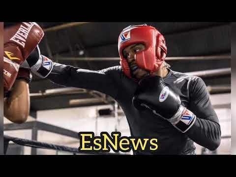 Picture Of Errol Spence Sparring In Camp For Mikey garcia