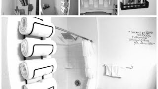 Diy Small Bathroom Makeover: Spa Inspired Decor Ideas
