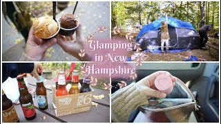 Vlog: Let's go GLAMPING in New Hampshire ♡