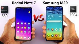 Redmi Note 7 vs Samsung M20 Price Camera specification Comparison Not a Review in Hindi