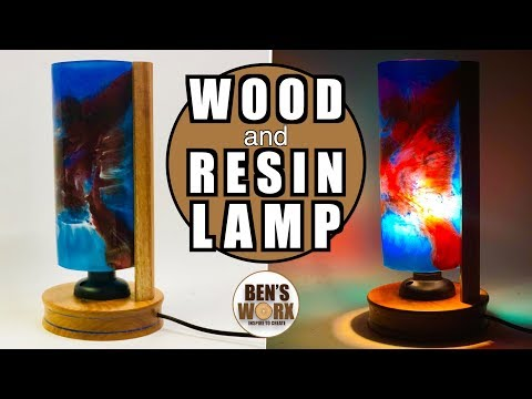 Make a Wood and Resin Lamp